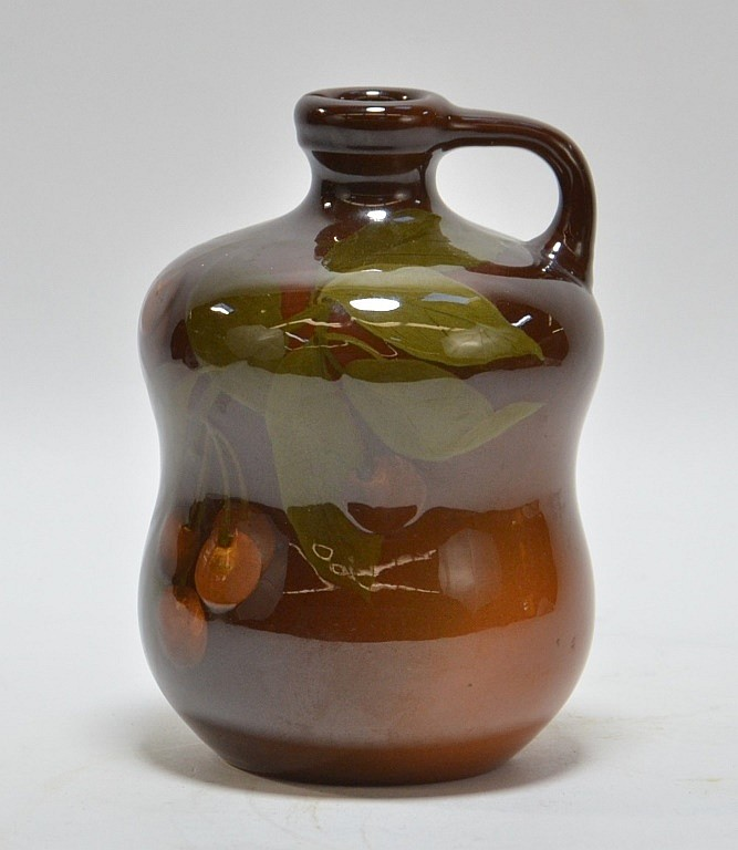 1901 Elizabeth Lincoln Rookwood Pottery Cherry Jug