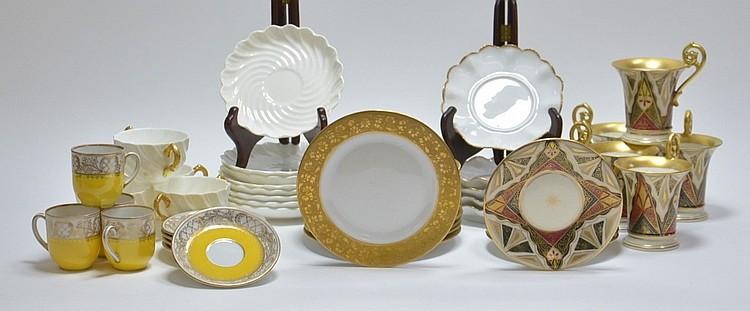 Tea Cup & Saucer Dessert Sets Porcelain Group