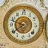 Antique 19C. Ansonia Dresden Porcelain Clock