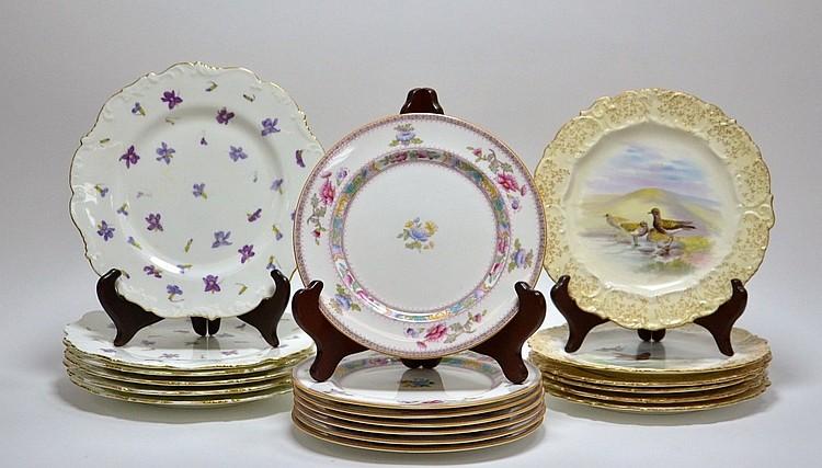 Lot Porcelain Plate Cauldon Royal Doulton Fish Set