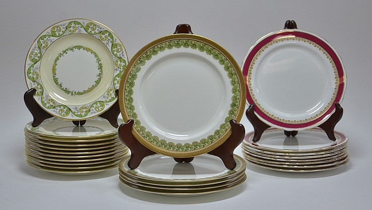 Porcelain Plates Cauldon Royal Doulton Aynsley