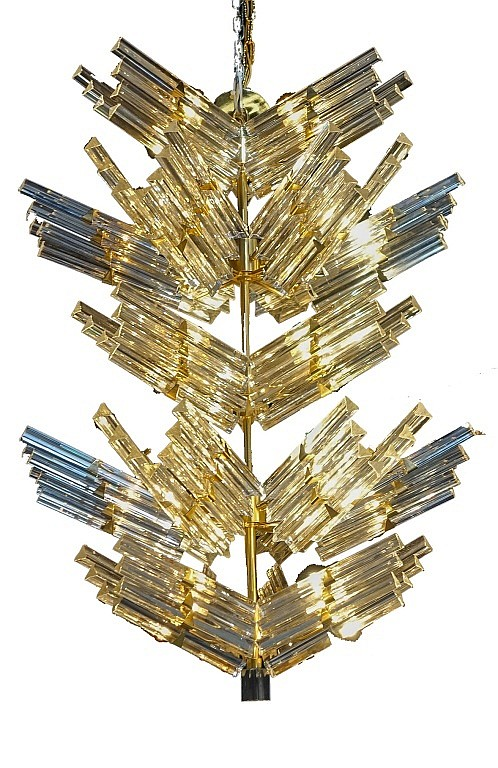Large Italian Venetian Venini Crystal Chandelier