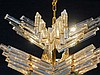 Italian Venetian Glass Venini Crystal Chandelier