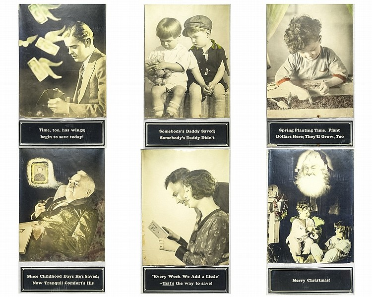 6 Real Photo Poster Advertising Bank Lobby Cards