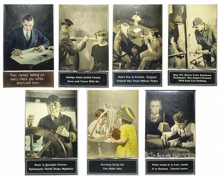 7 Real Photo Poster Advertising Bank Lobby Cards