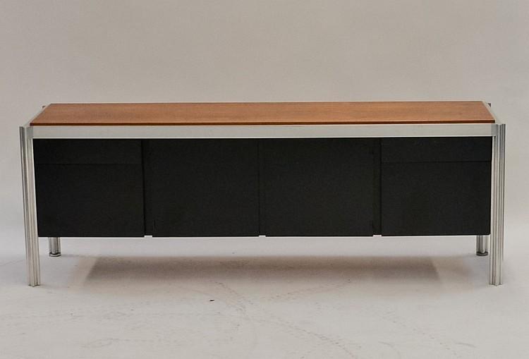 Jens Risom Design Walnut & Aluminum Credenza