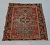 Antique C.1900 Persian Karaja Small Carpet Rug
