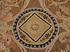 Antique 18C. French Aubusson Hour Glass Carpet Rug