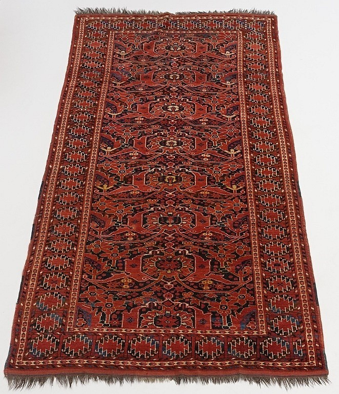 Antique South Turkestan Esari Beshir Carpet Rug