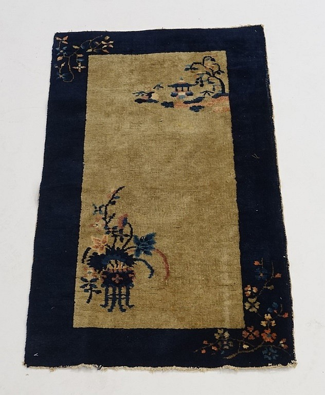 Antique 1920-30's Chinese Oriental Carpet Rug