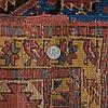 Persian Bidjar Burgundy & Blue Carpet Rug