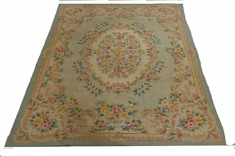 Large French Aubusson Room Size Carpet Rug