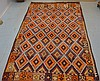 Lg. Persian Flat Weave Kilim Geometric Carpet Rug