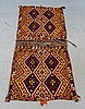 Semi-Antique Persian Bag Face Saddle Bag Rug