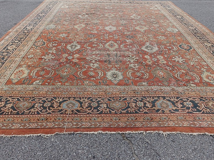 Antique Persian Sultanabad Room Size Carpet Rug