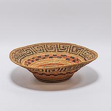NW Coast Native American Spruce Fiber Basket