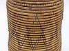 African Sudanese Geometric Tall Coil Basket