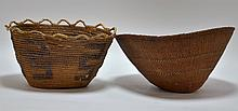 NW Coast Native American Salish Hamper Basket /Hat