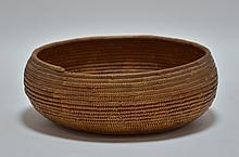 California Maidu Tribe Native American Coil Basket