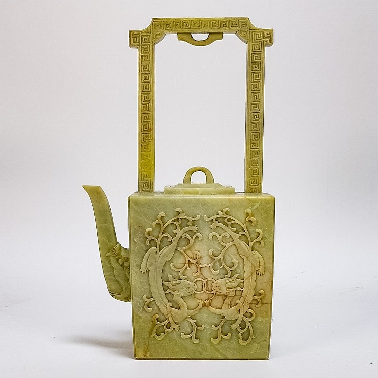 Fine Chinese Qing Dynasty Soapstone Teapot