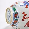 Chinese Ming Dynasty Style Wucai Dragon Teapot