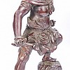 Japanese Meiji Period Bronze Oni Warrior Figure