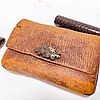Two Japanese Pipe Case Tobacco Incense Pouch
