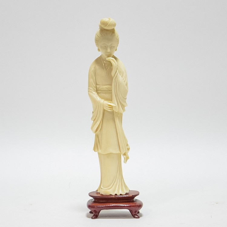 Fine Chinese Carved Ivory Figure of Quanyin