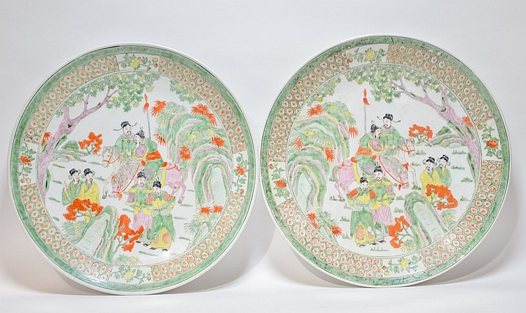 PR. Chinese Famille Verte Porcelain Chargers