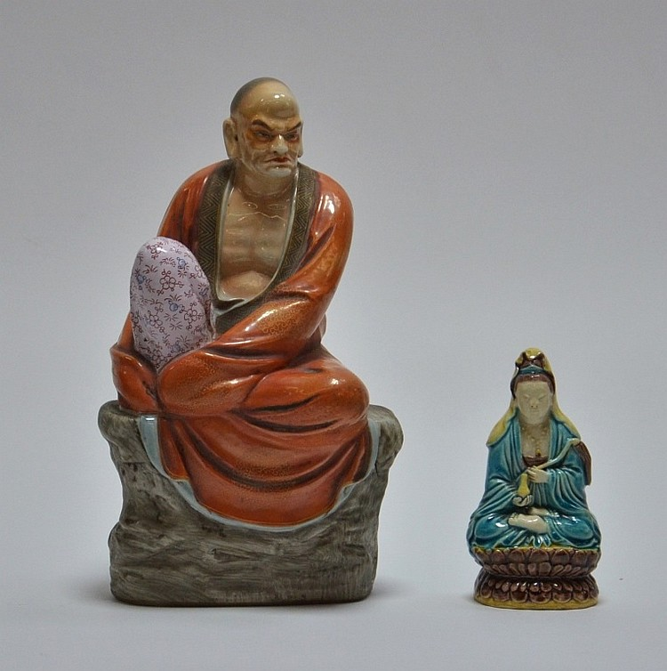 2 Chinese Porcelain Guanyin Immortal Figures