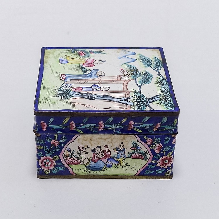 Chinese Qing Dynasty Enamel Storage Box