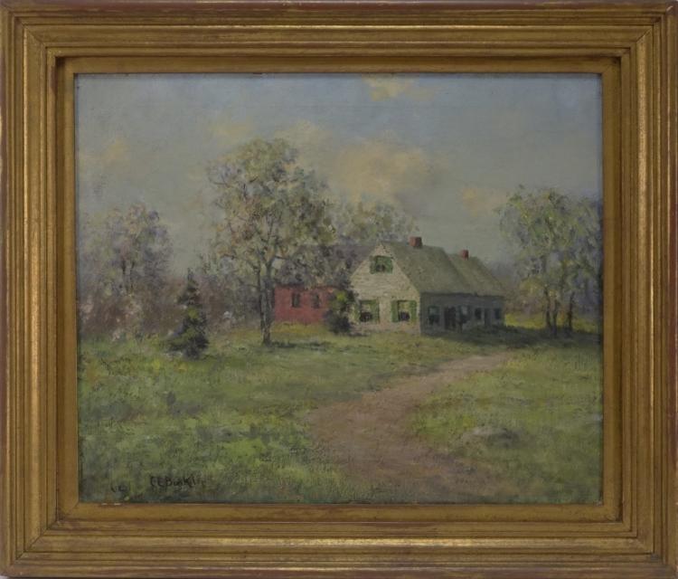 Charles E. Buckler Artist Springtime Painting