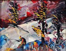 Morris Katz Modernist Abstract Landscape Painting