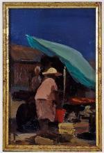 Roy Petley Barbados Market Impressionist Painting