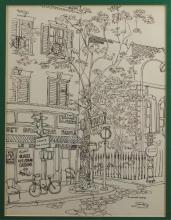 Maxwell Mays Pen & Ink Drawing of Paris