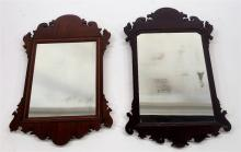 2 19C. New England Chippendale Mahogany Mirror