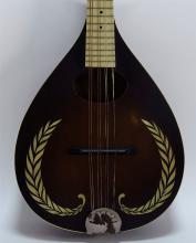 Vintage Decorative Floral A-Style Mandolin