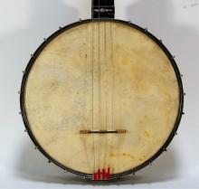 Vintage Bruno Floral Abalone and Ebony Tenor Banjo