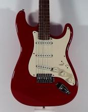 2000s Fender Squier Red Stratocaster Guitar
