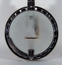 2000s Washburn B-16 Figured Flame Maple Banjo