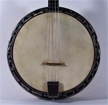 1930s Broadkaster Decorative Floral Tenor Banjo