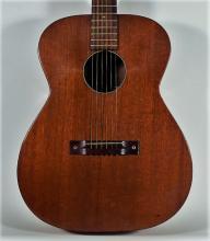 1970s Harmony Mahogany & Pearloid Acoustic Guitar