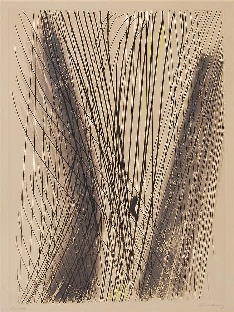 Hans Hartung  (1904-1989) Composition Eau-forte signée et num