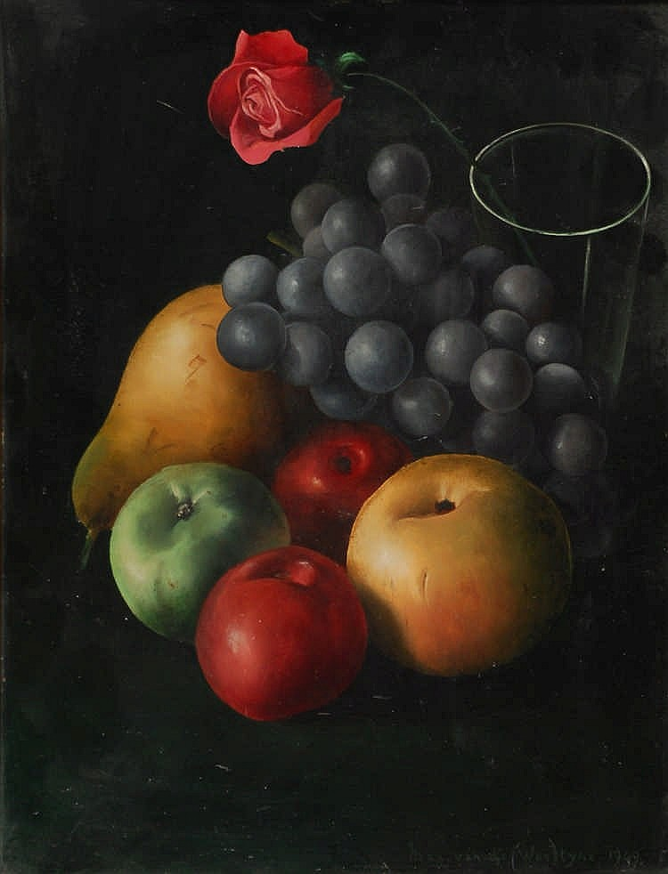 Maxime Van de Woestyne   (1911-2000) Nature morte aux fruits