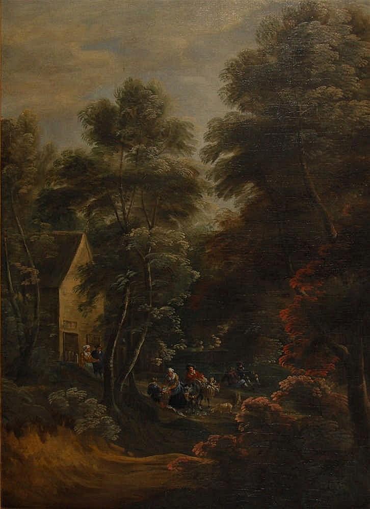 Ecole flamande XVIIIe s. / Vlaamse school 18de eeuw Lisière de fo