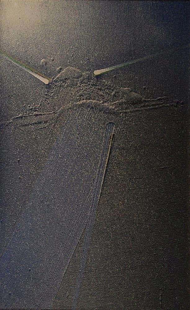 Louis Moyano  (1907-) Sans titre Composition de matière sur t