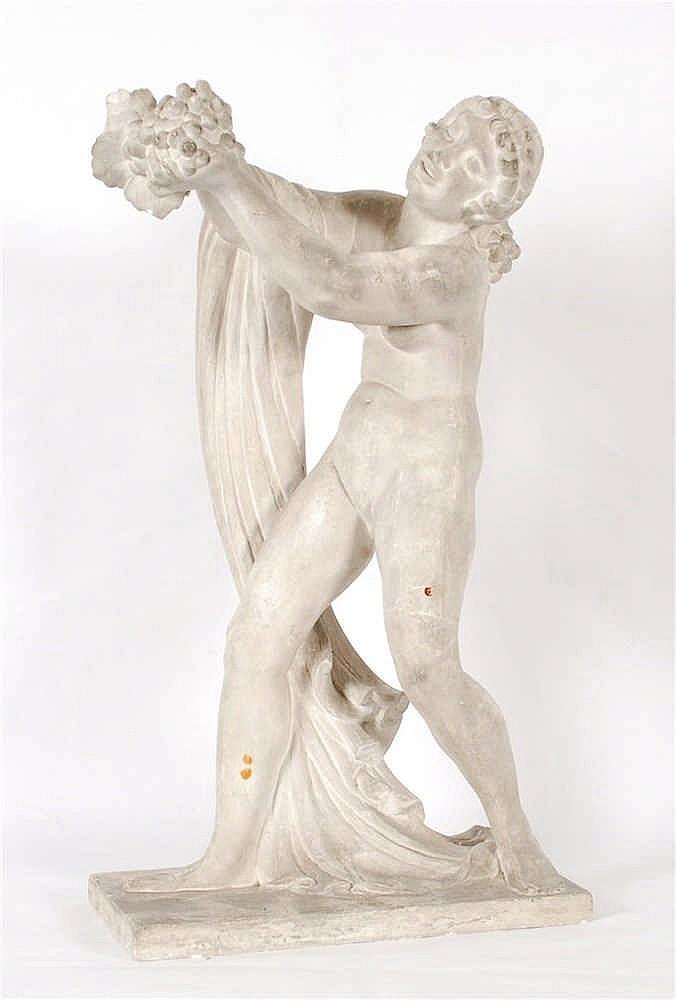 Richard Guino  (1890-1973) L'automne Plâtre.  Signé sur l