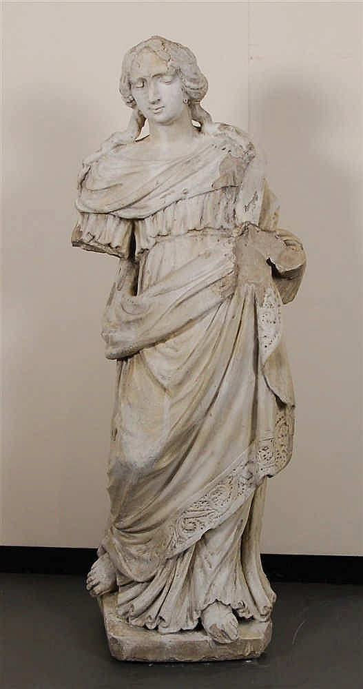 Vierge debout Pierre de France. Travail flamand, XVIIe-XVIIIe si