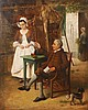 Léon Becker  (1826-1909) Scène galante Huile sur panneau. , Léon (1826) Becker, €0