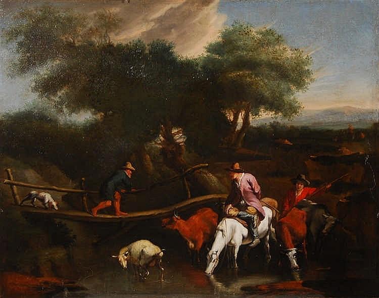 Nicolaes Berchem  (1620-1683) (entourage de / omgeving van) L
